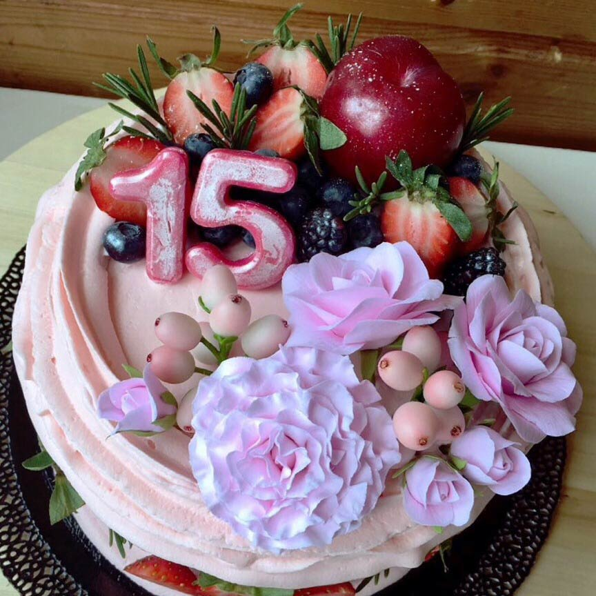 торт-с-цветами