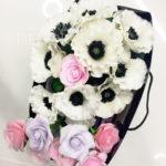 Анемоны и розы ручной работы