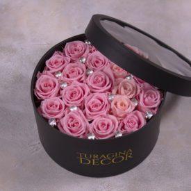 deluxe коробка с неувядающими розрвыми розами (6)
