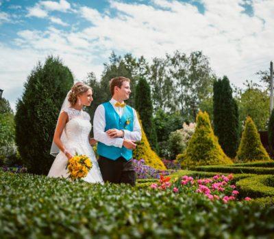 Желто-бирюзовая яркая свадьба с бабочками 01.08.2015