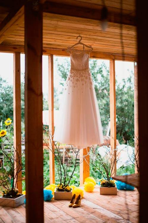 Желто-бирюзовая свадьба