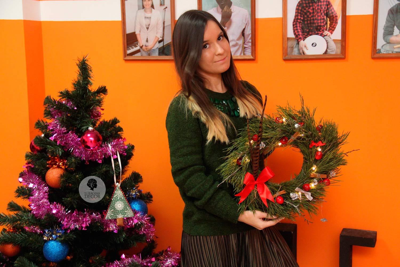 Как сделать рождественскй венок