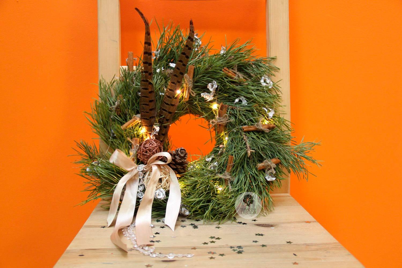 Рождественскй венок с корицей