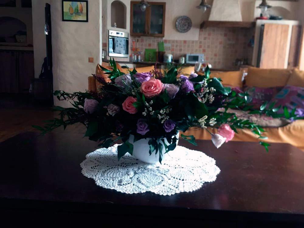 Стабилизированные цветы в интерьере
