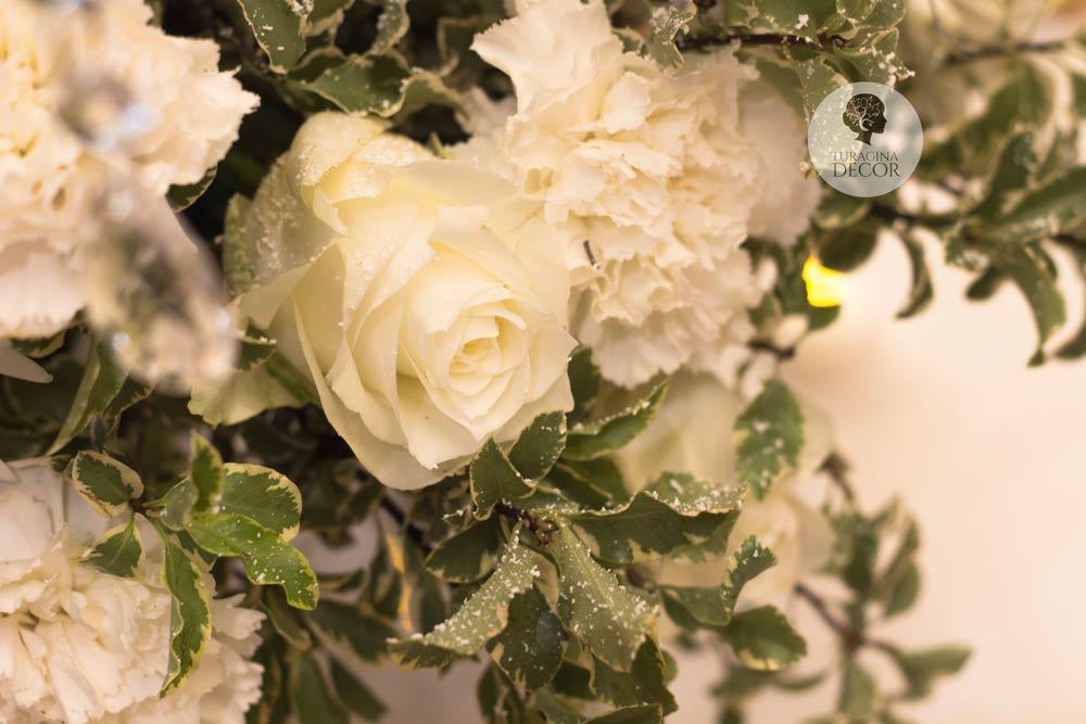 Свадьба с белыми цветами