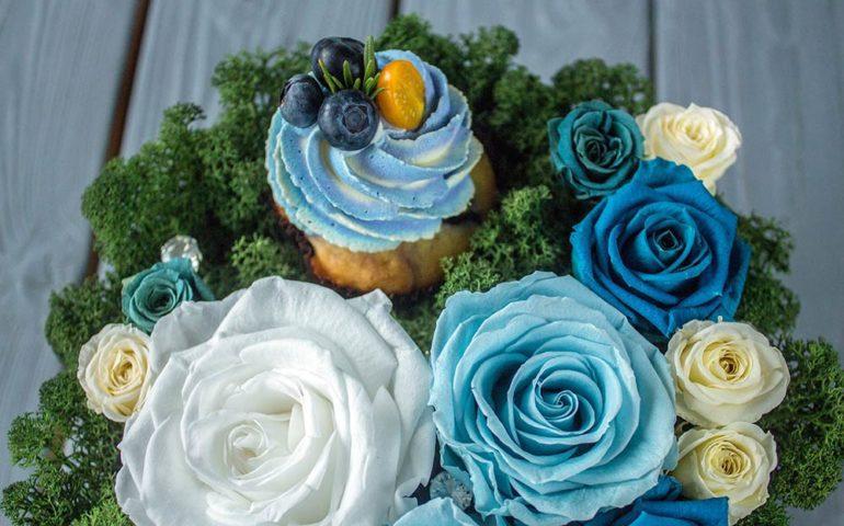 Цветы в торт