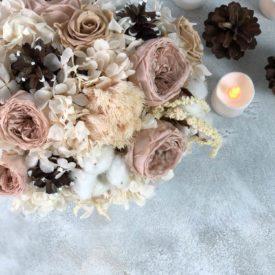 Пудровые розы стабилизированные