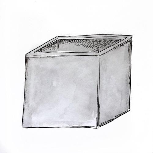 квадратное-кашпо