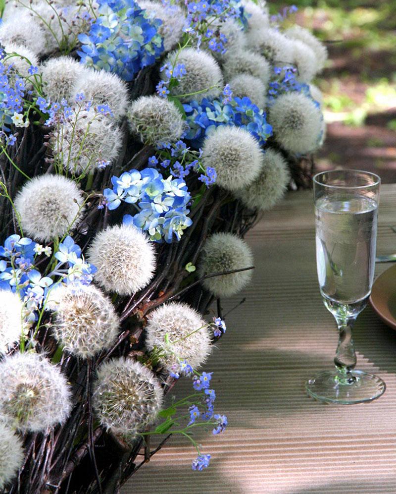 Одуванчики-и-голубые-цветы